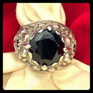Royalty Collection Sterling Silver/Black Onyx Ring